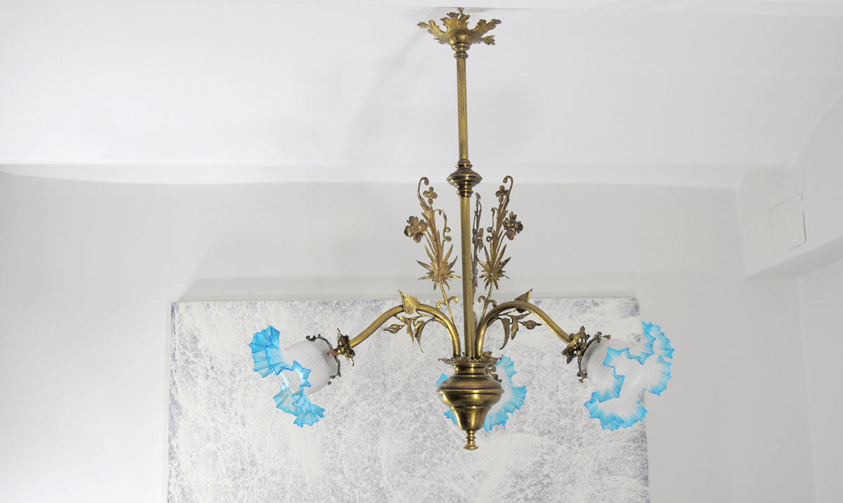 Lampara de techo estilo isabelino 3 luces restauraci n - Estilos de lamparas de techo ...