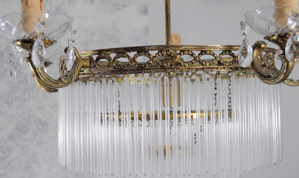 Lampara de techo estilo imperio con canetas lamparas - Lamparas de cristal para techo ...