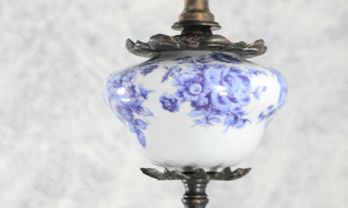 Lampara de techo quinque con deposito ceramica manises for Lamparas de ceramica