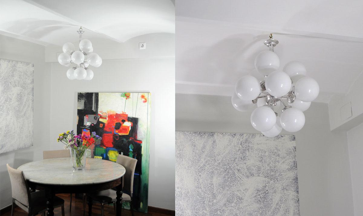 Lampara de techo estilo sputnik 12 bolas fabricaci n y - Lamparas antiguas de techo ...