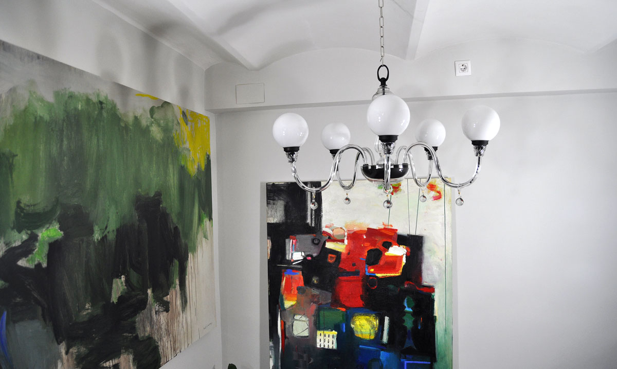 L mpara ara a cristal con 5 bolas opal lamparas antiguas - Lamparas antiguas de techo ...