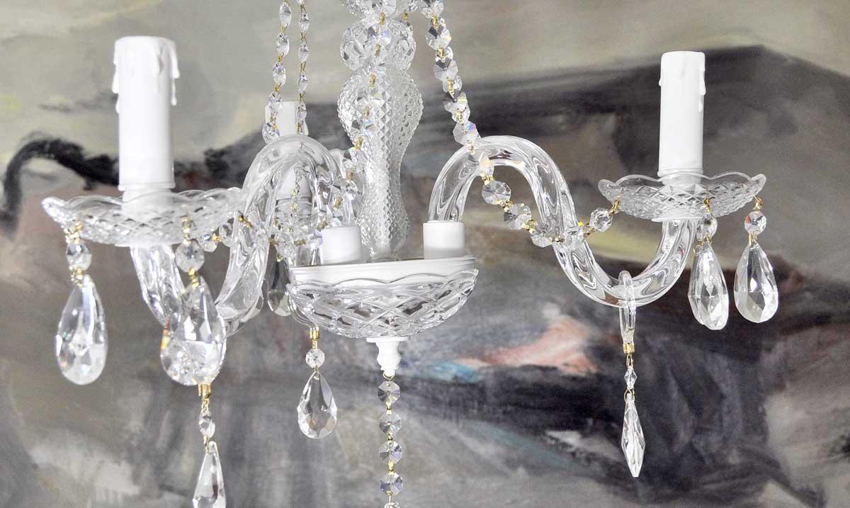 L mpara ara a de cristal 3 brazos modelo blanco lamparas - Pintar lamparas de techo ...