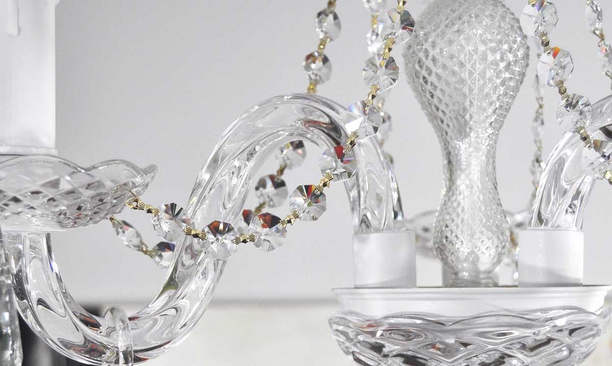 L mpara ara a de cristal 3 brazos modelo blanco lamparas - Lamparas antiguas de techo ...