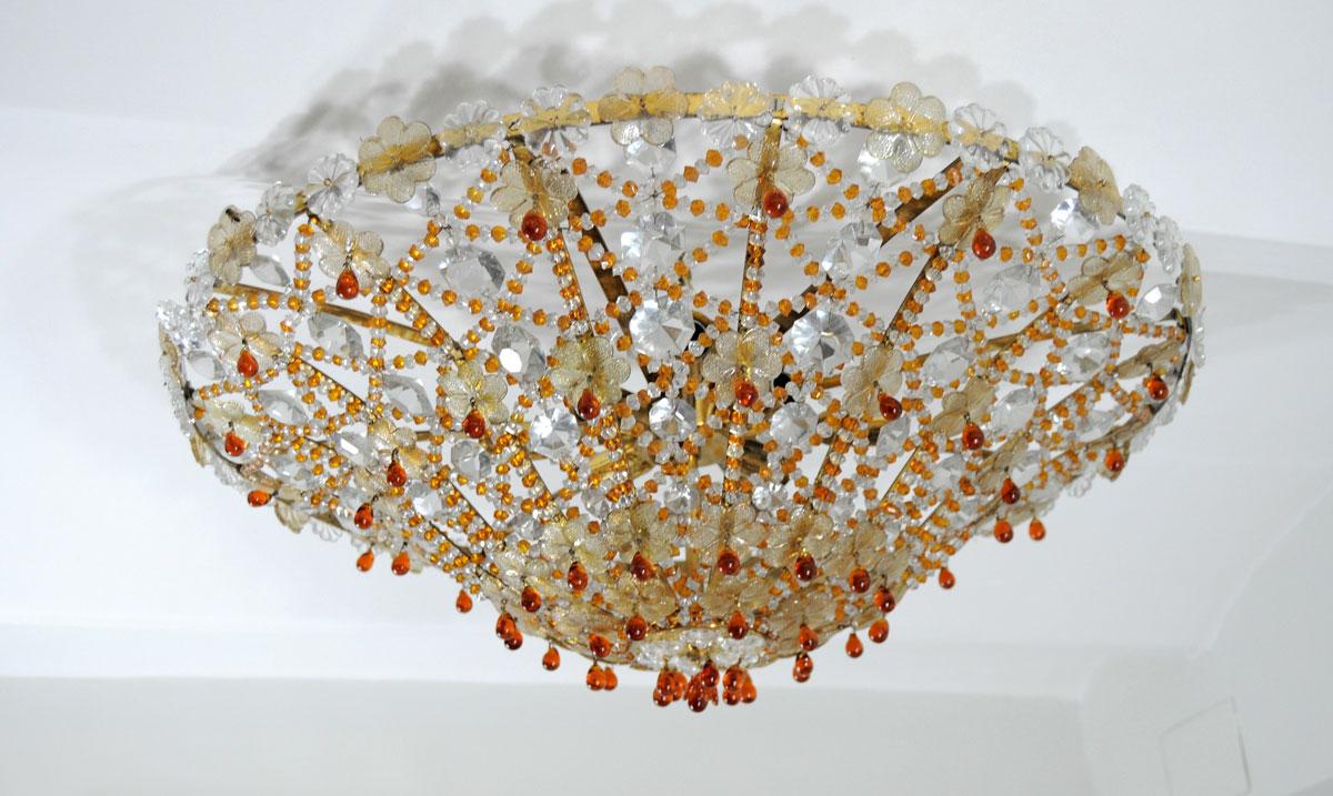 Lampara de techo plafon de cristal de murano - Lamparas de cristal para techo ...